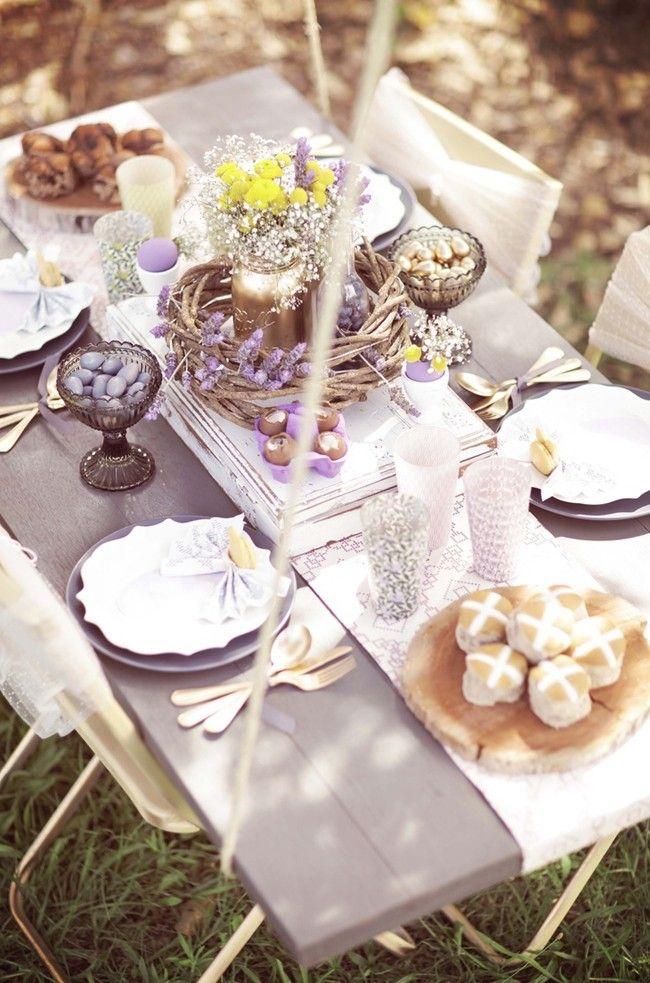 Bildergebnis für lavender garden table decorations