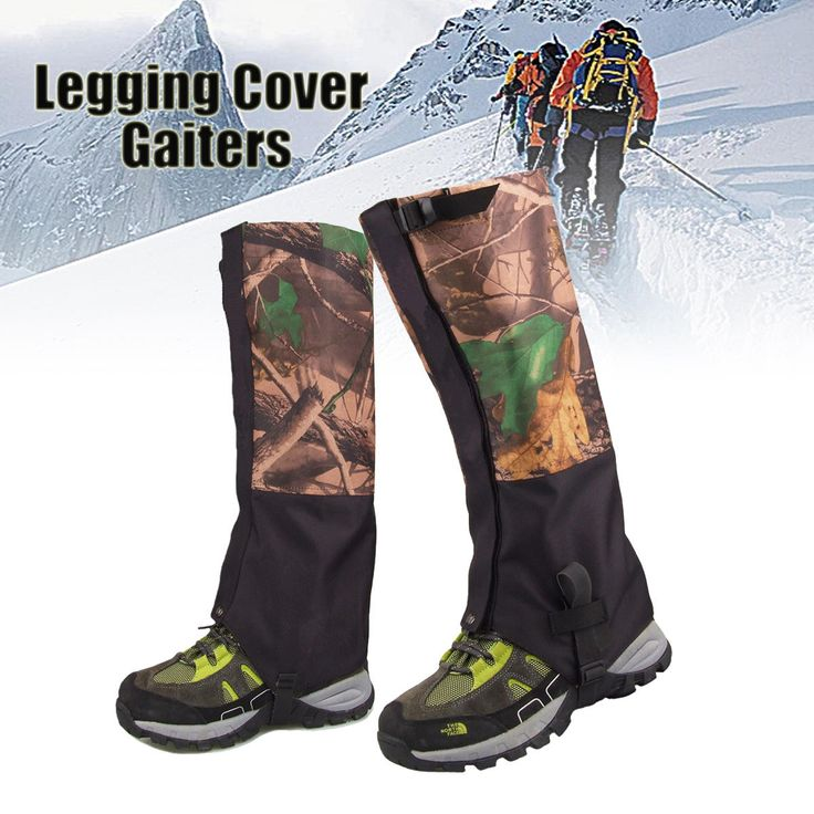 1 Pair Camouflage Waterproof Outdoor Climbing Hiking Snow Gaiters Leg Cover Boot Legging Wrap Sale - Banggood.com #sports #outdoor #ski