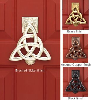 """I want this """"Trinity Knot Door Knocker"""" (in the black finish) so badly!  From gaelsong.com."""