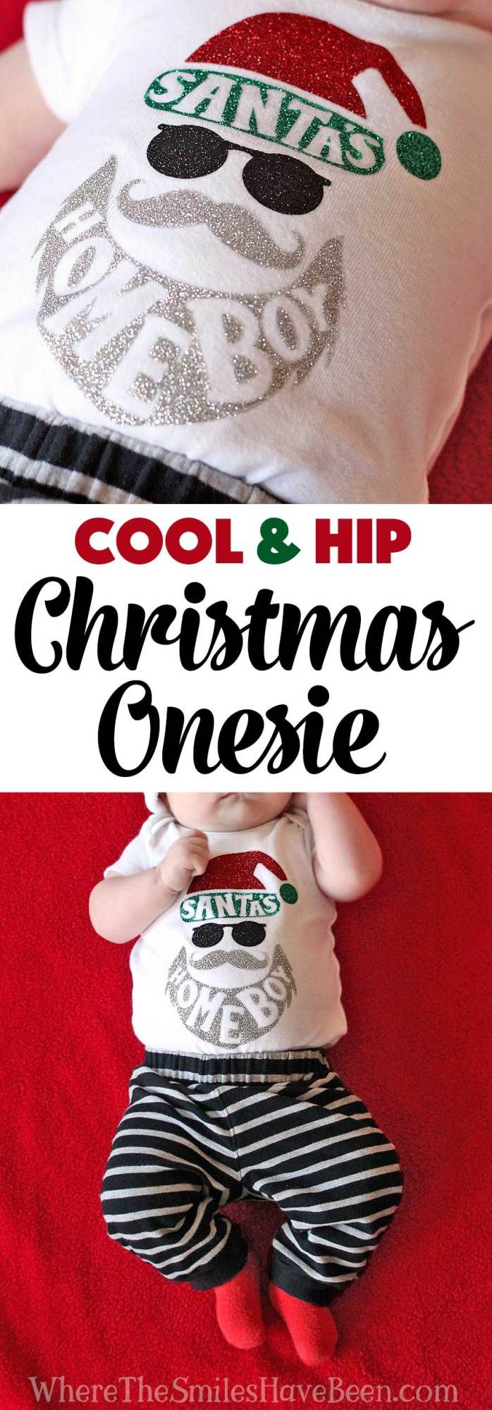 Cool & Hip 'Santa's Homeboy' Christmas Onesie   Where The Smiles Have Been