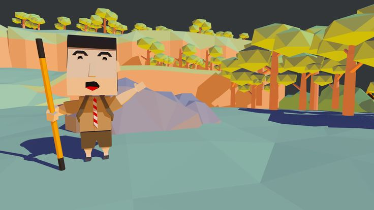 game for my thesis #scout #game #lowpoly #3d #blender
