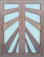 Trojan Timbers Sunray (double) door #doors #timber #timberdoor #decor #homedecor