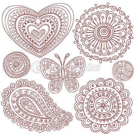 Henna Mehndi Tattoo Kritzeleien