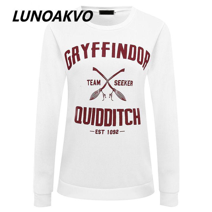 Harajuku Gryffindor Quidditch Harry Potter Shirt Sweatshirt  Shirt Plus Size S M L XL