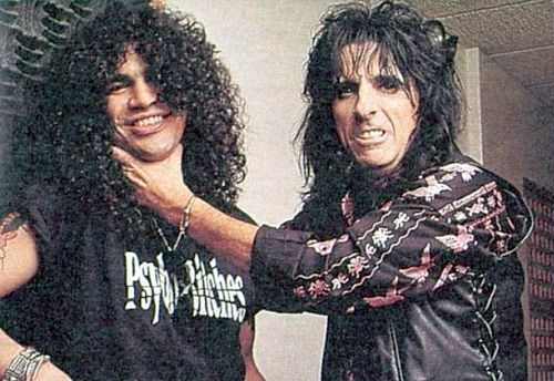 Slash and Alice Cooper