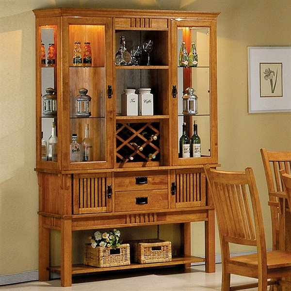 25 Dining Room Cabinet Designs Decorating Ideas: Coaster Fine Furniture Marbrisa Buffet With Hutch