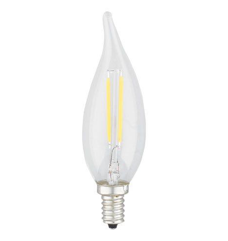filament led flametip 4w candelabra bulb - Candelabra Base