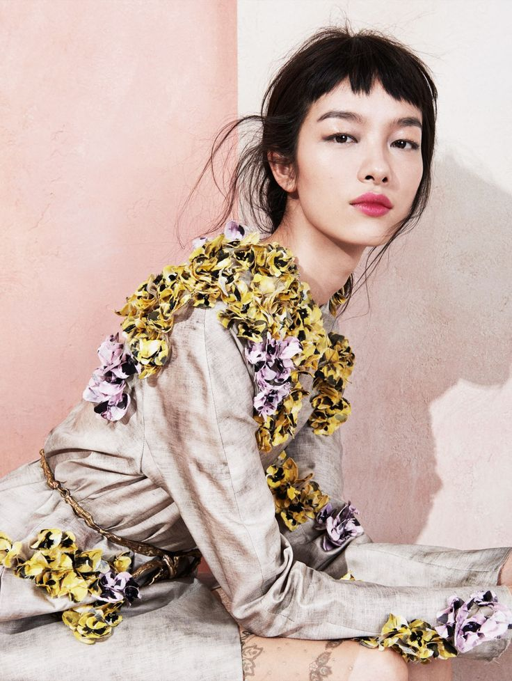 """stormtrooperfashion: Fei Fei Sun in """"Modern Romance"""" by Sharif Hamza for Vogue China, May 2014"""
