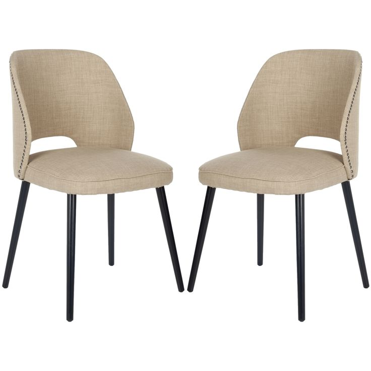 Safavieh Retro Nail Head Straw Velvet Blend Side Chairs Set Of 2