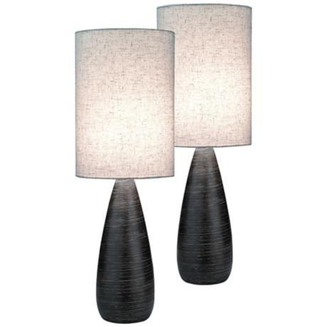 $130 for 2/ Lite Source Quatro Dark Bronze Large Table Lamp Set of 2 -