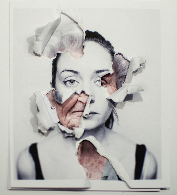 Lorena Cosba | Possibility with students-a self portrait, and a contrasting image to show what's underneath.