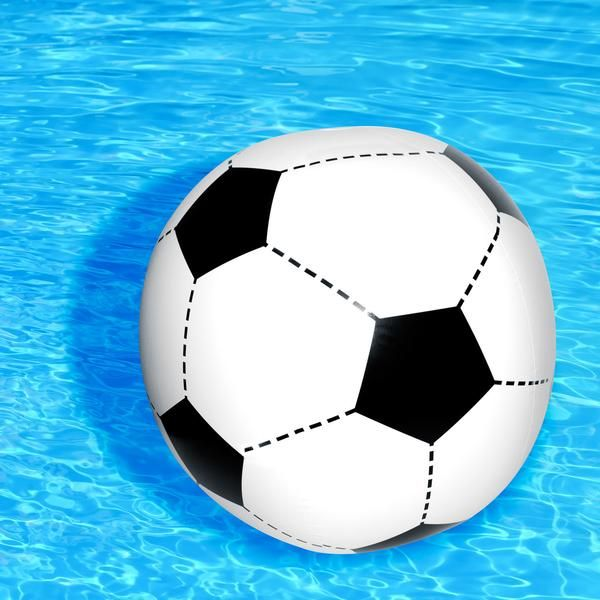 """""""Make """"water soccer"""" a thing this summer and pass the ball side to side... for hours. Like regular soccer, but more fun!"""""""
