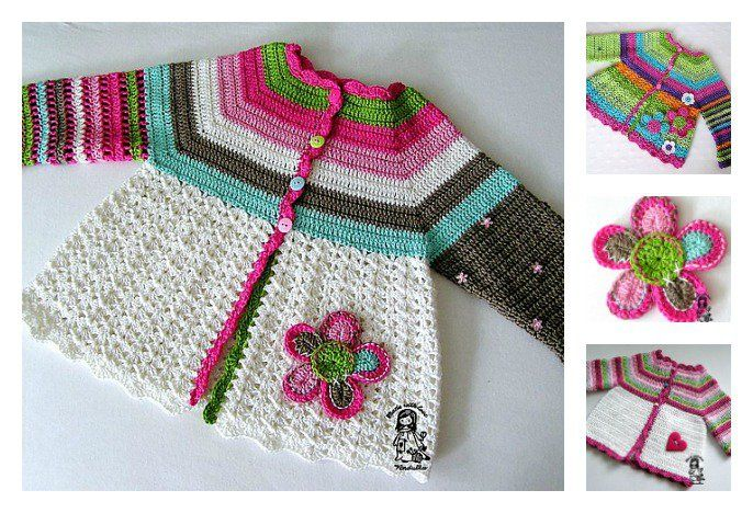 Cardigans are a great way to mix up your crochet style. Here is a wonderful Crochet Flower Cardigan Sweater Free Pattern for you to make a sweet sweater.