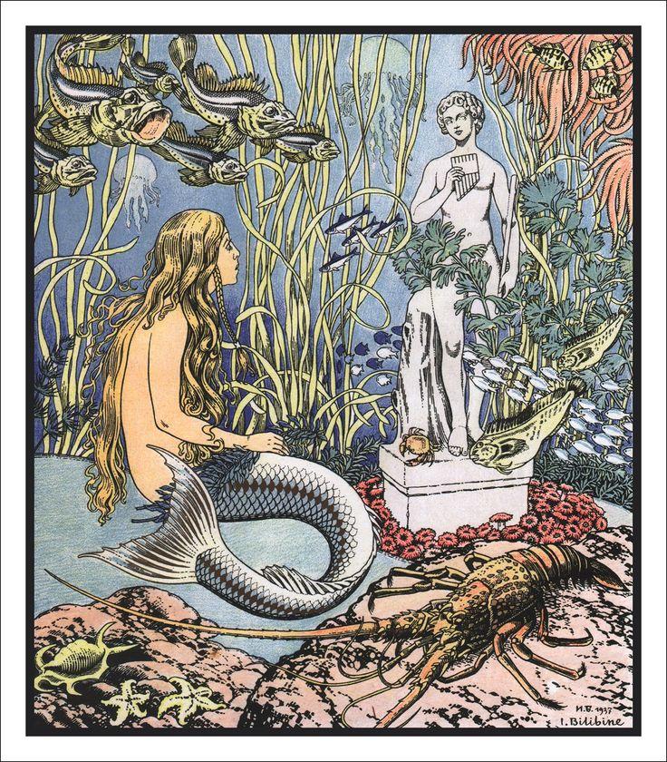 イワン・ビリービン Ivan Bilibin Иван Билибин 人魚姫 The Little Mermaid Русалочка_03