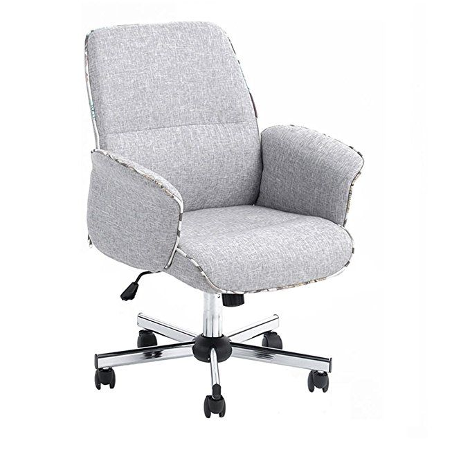Homy Casa Home Office Chair Upholstered Desk Chair Fabric