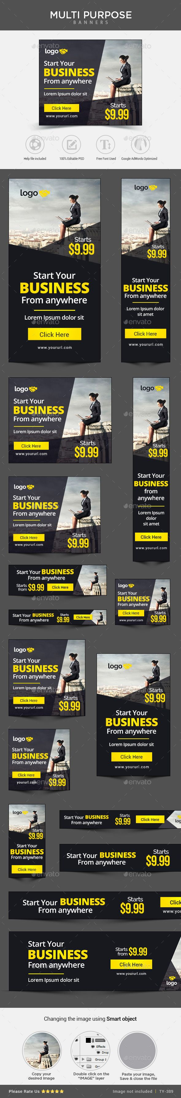 Business Web Banners Template | Download: http://graphicriver.net/item/business-banners-/11056394?ref=ksioks
