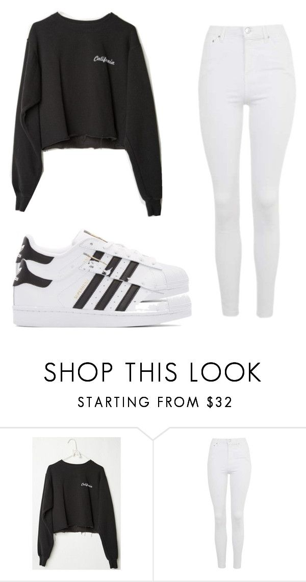 """simply simple"" by captain-phasma on Polyvore featuring Topshop and adidas Originals"