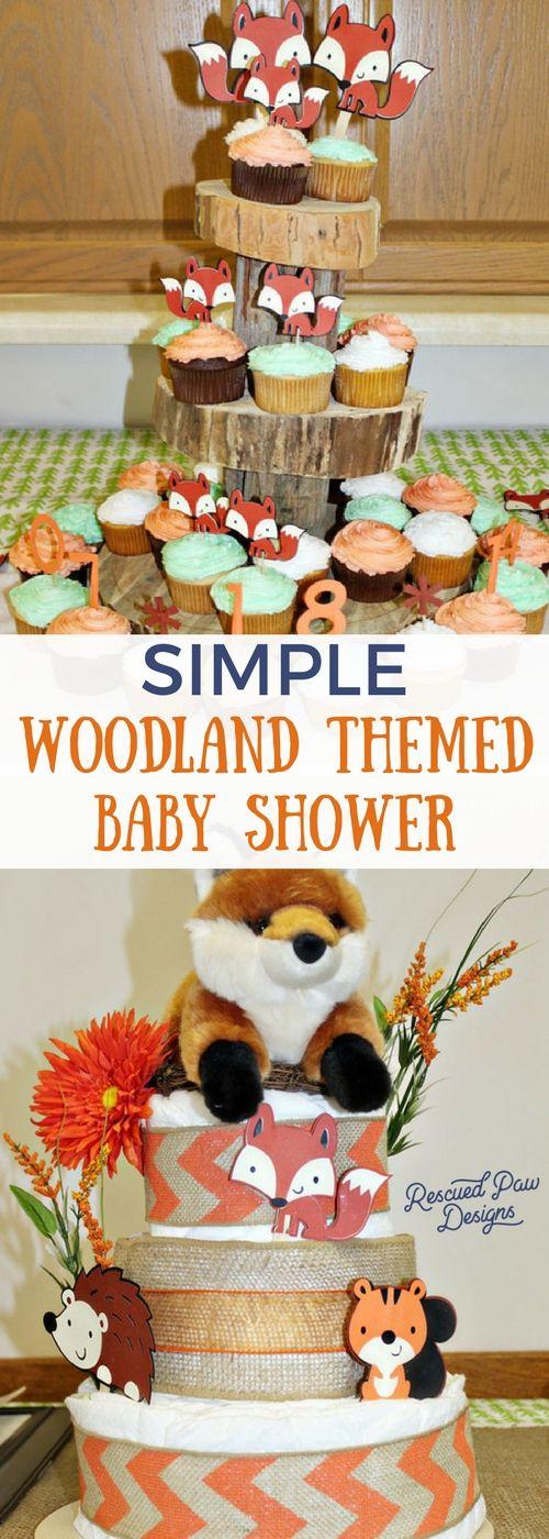 Simple Woodland Themed Baby Shower - DIY Woodland Animals Baby Shower Centerpiece