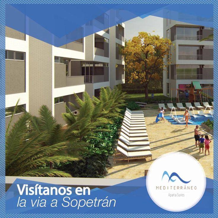 Ubicado en un exclusivo sector del municipio de sopetrán Mediterráneo Aparta Suites es un proyecto que no te puedes perder. Llámanos 411-44-39