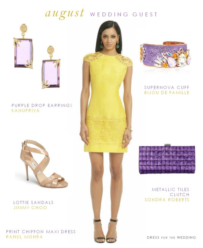 71 best chic wedding guest images on pinterest chic for Yellow wedding guest dress
