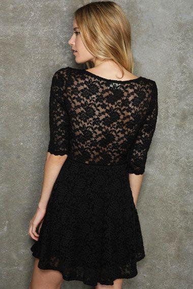 lace black dress