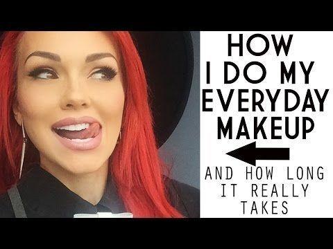 Tägliches Make-Up – Echtzeit, wie ich es mache, keine Bearbeitung! – Youtube  #…