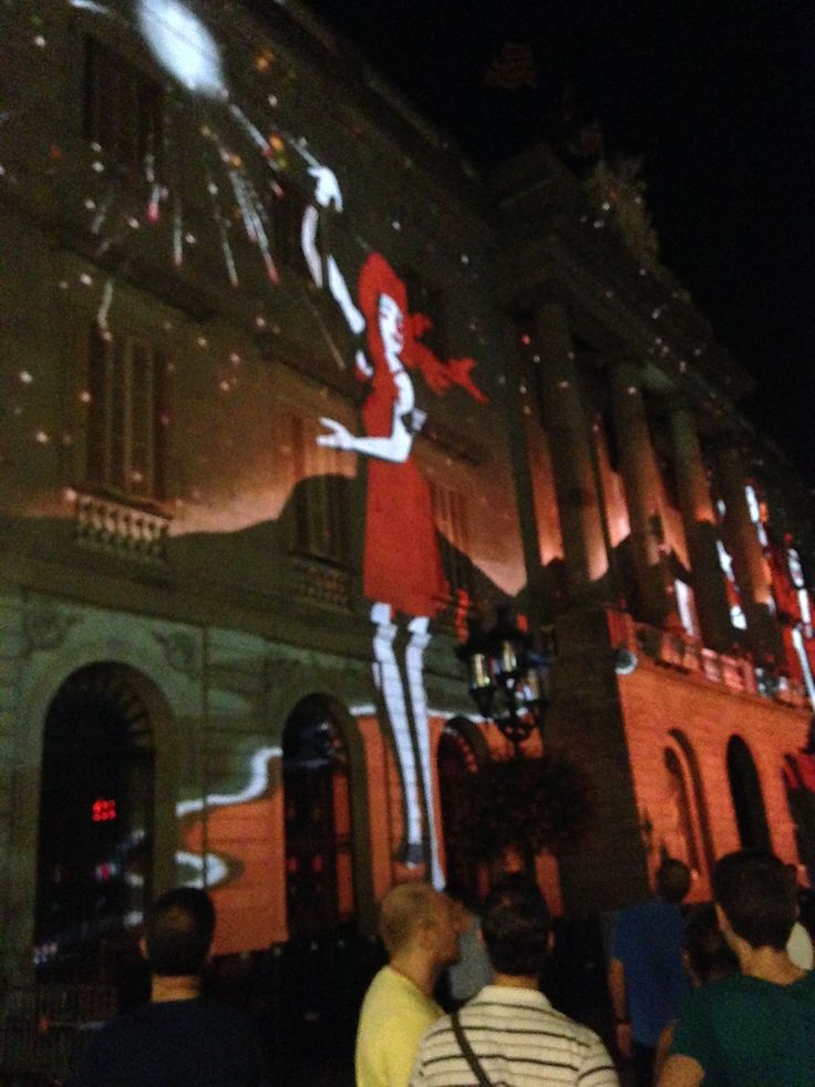 Projection Show on the Façade of the City Hall