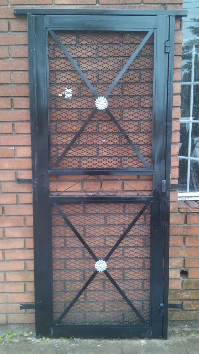 puerta reja de seguridad malla / doble cruz reforzada