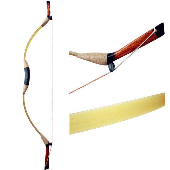 DIY arco verde arco hecho a mano arco tradicional tiro con