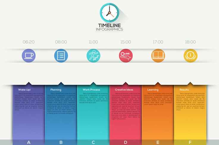Modern Infographic Paper Timeline by AndrewKras on @creativemarket