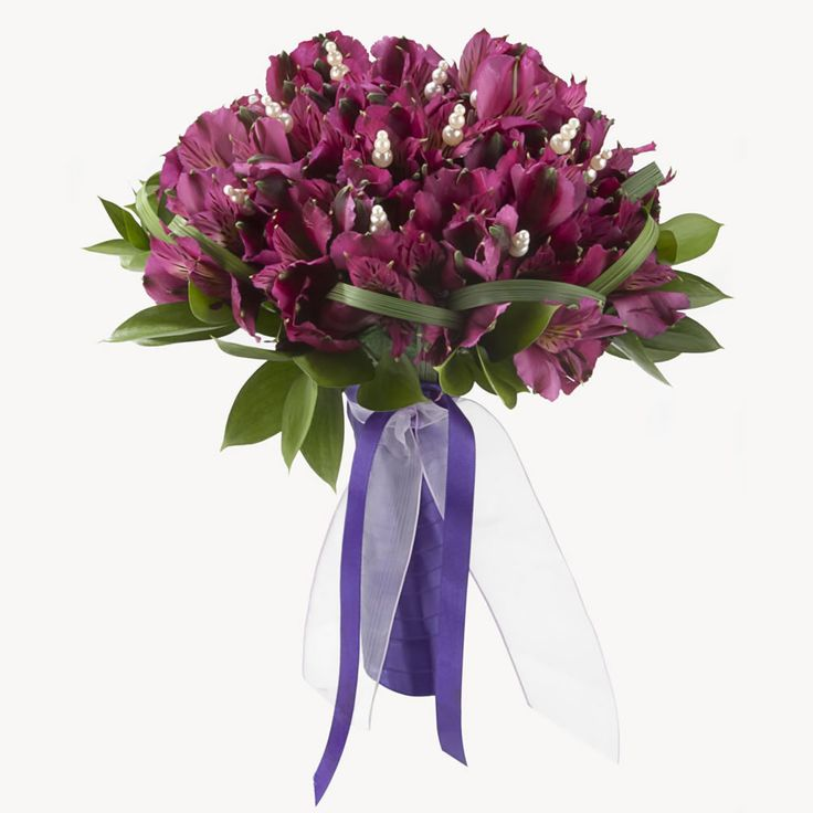 Purple Alstroemerias wedding bouquet... so pretty!