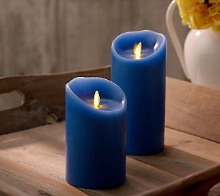 "My ""go-to"" flameless candles w/timers - but in an outstanding french blue color."