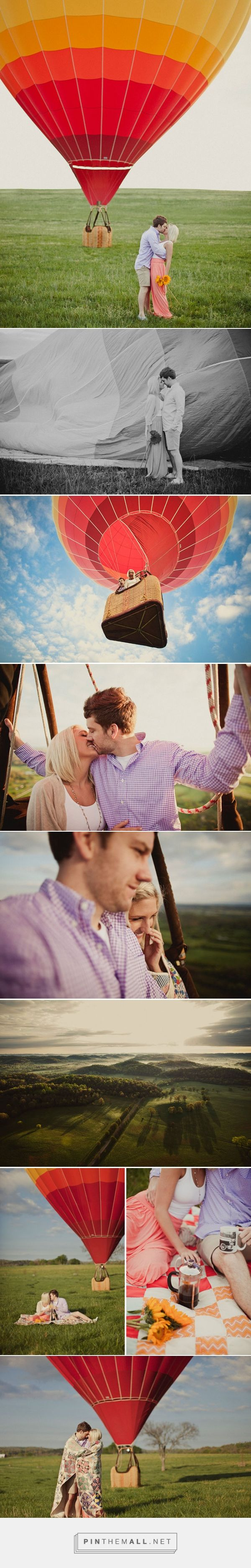 """Adorable, fun, creative series. """"Hot Air Balloon Engagement"""" - Tennessee (Lindsey + Jarrod)   Photography by Shaun Menary."""