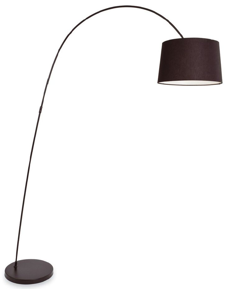Swing Black Arch Lamp With Black Shade