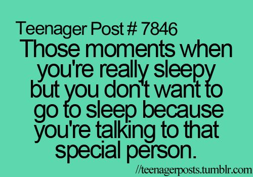 Yup, I stayed up on New Years until 1 something texting him! <3
