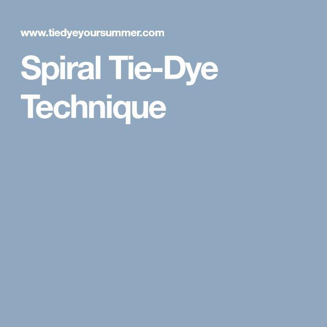 Spiral Tie-Dye Technique