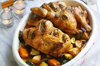 Gino D'Acampo's roasted chicken