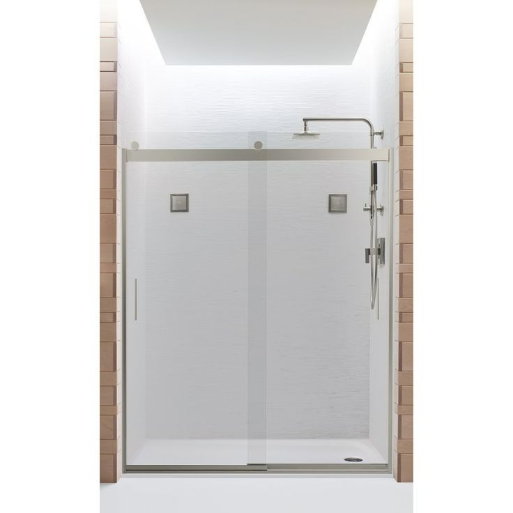 Shop Kohler  Levity 56.625-in to 59.625-in W x 74-in H Frameless Sliding Shower Door at Lowe's Canada. Find our selection of shower doors at the lowest price guaranteed with price match + 10% off.