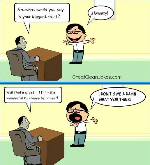 Wow Recruiters And Land Interviews: Honesty Cartoon