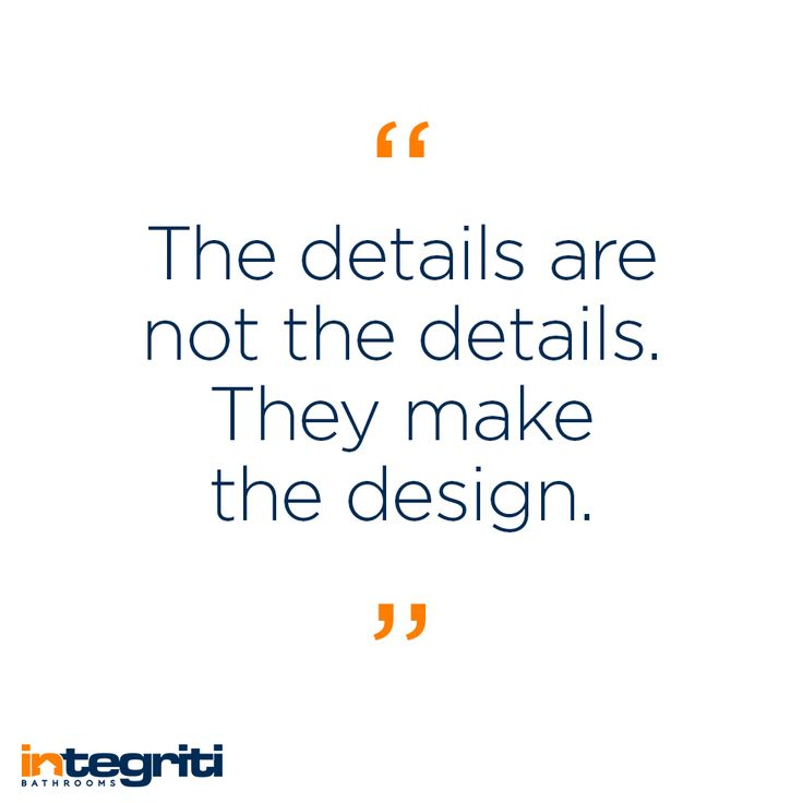 The team at Integriti Bathrooms take pride in our attention to details, to make sure that every part of your bathroom looks amazing on its own and together as a whole. Contact us for a consultation on your next bathroom renovation today. Quote by architect and interior designer Charles Eames #integritibathrooms #custommade #sydneybathroom #interiordesign #bathroom