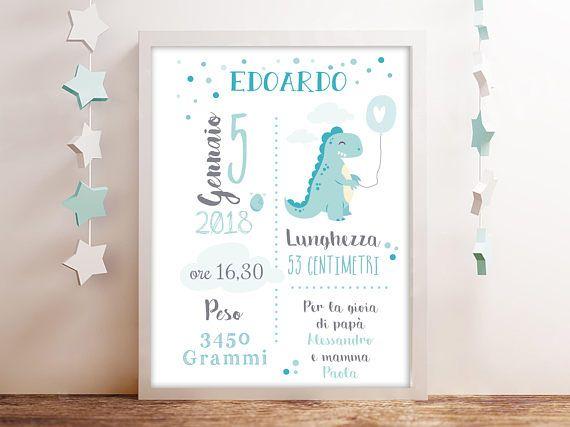 Quadretto nascita bimbo Piccolo Principe inspired