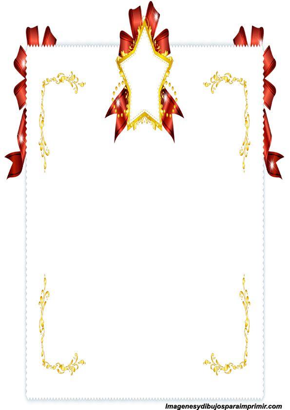 Hojas decoradas para imprimir bordes para papel pinterest - Hojas decoradas para ninas ...