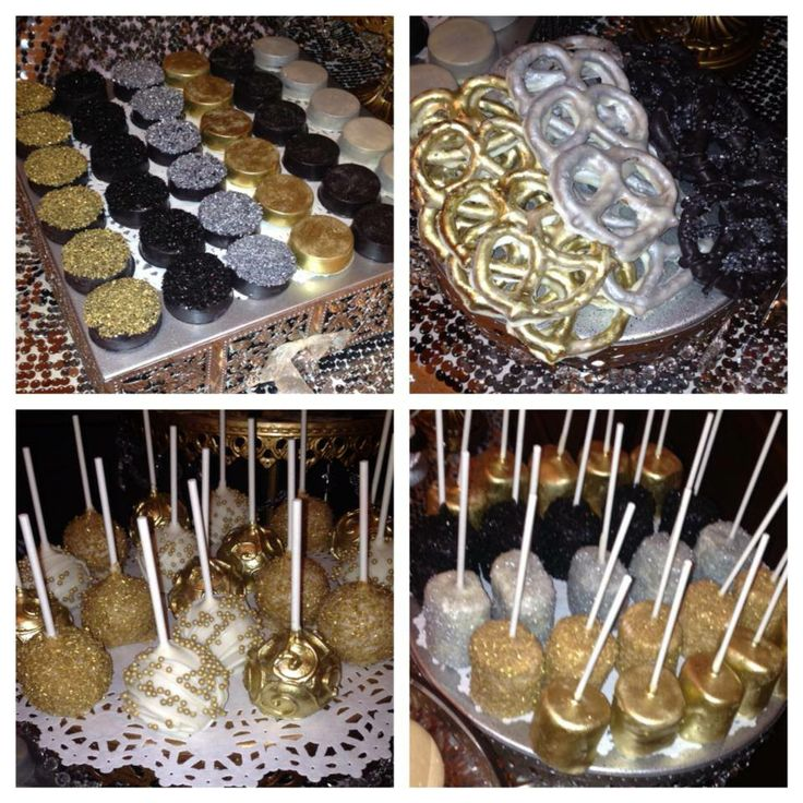 Chocolate Covered Oreos Chocolate Covered Pretzels Chocolate Covered Marshmallows Cake Pops Gold Dusted
