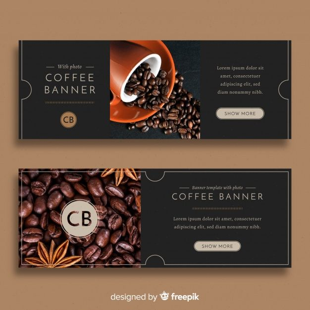 Download Modern Coffee Shop Banners With Photo For Free Marca De