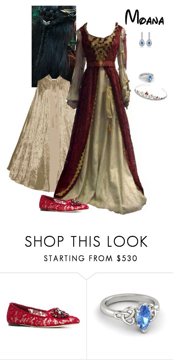"""Disney Renaissance Princess - Moana"" by briony-jae ❤ liked on Polyvore featuring Dolce&Gabbana"