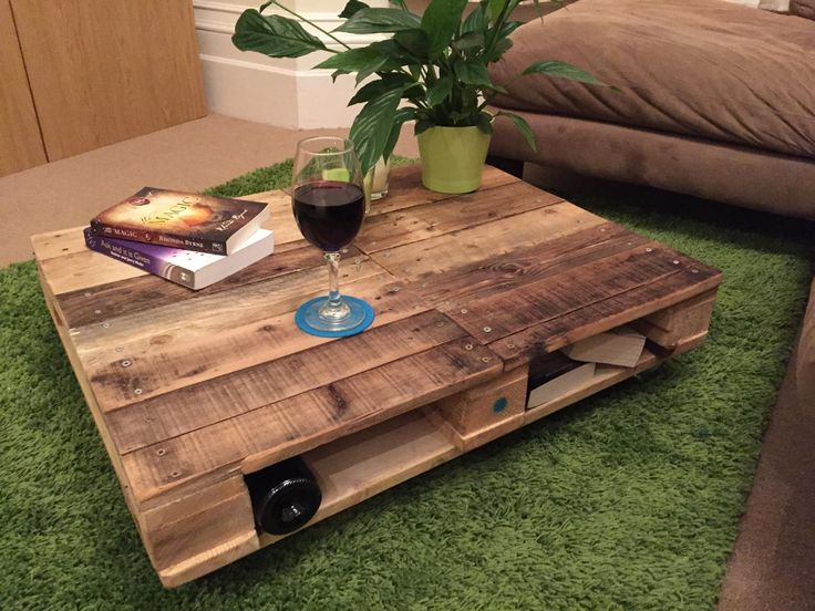 Grande Duplex' - £100. Stained with teak oil, this split wood with double screw finish has base storage and is fitted with braked wheels. N.B. Connors favourite piece so far. Contact Emma & Connor at palletpossessions@gmail.com to arrange delivery #pallets #bournemouth #coffee #furniture #palletwood #upcycled #furniture #lounge #recycled #palletfurniture #coffeetable #supportlocal #business #diy