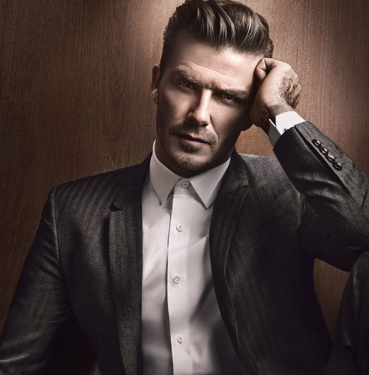 David Beckham suited up