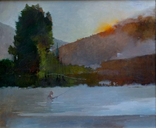 Salmon River /  oil on canvas / Bart Forbes