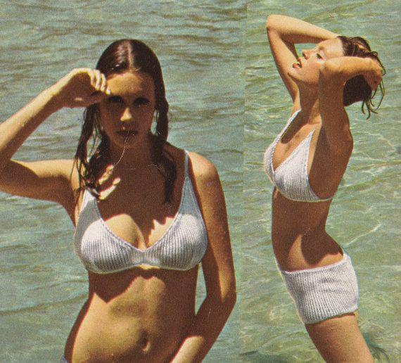 Vintage Bikini Pattern - Hippie Boy Boxer Shorts - Swimwear - Bathing Suit - Knitting Pattern - PDF Instant Download - Digital Pattern - Vtg