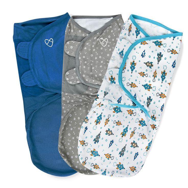 Baby Boy SwaddleMe 3-pk. Adjustable Infant Swaddles, Blue